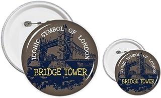 Britain UK London Bridge Tower Graffiti Kit de création de boutons et de badges