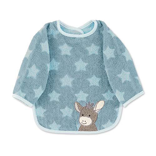 my-mosaik Sterntaler Baby-und Kinder Ärmellätzchen 100% Baumwolle personalisiert mit Namen / inklusive Bestickung (Emmi blau)