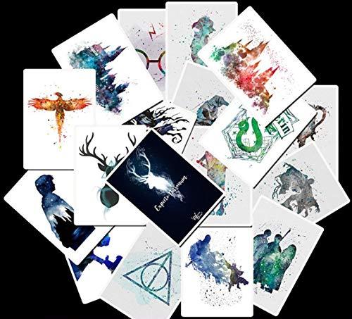 YUNDD Harrys Potters Aufkleber Set Aufkleber Für Kinder Gepäck Skateboard Laptop Cartoon Filme Aufkleber Für Kinder 25 Teile/Paket