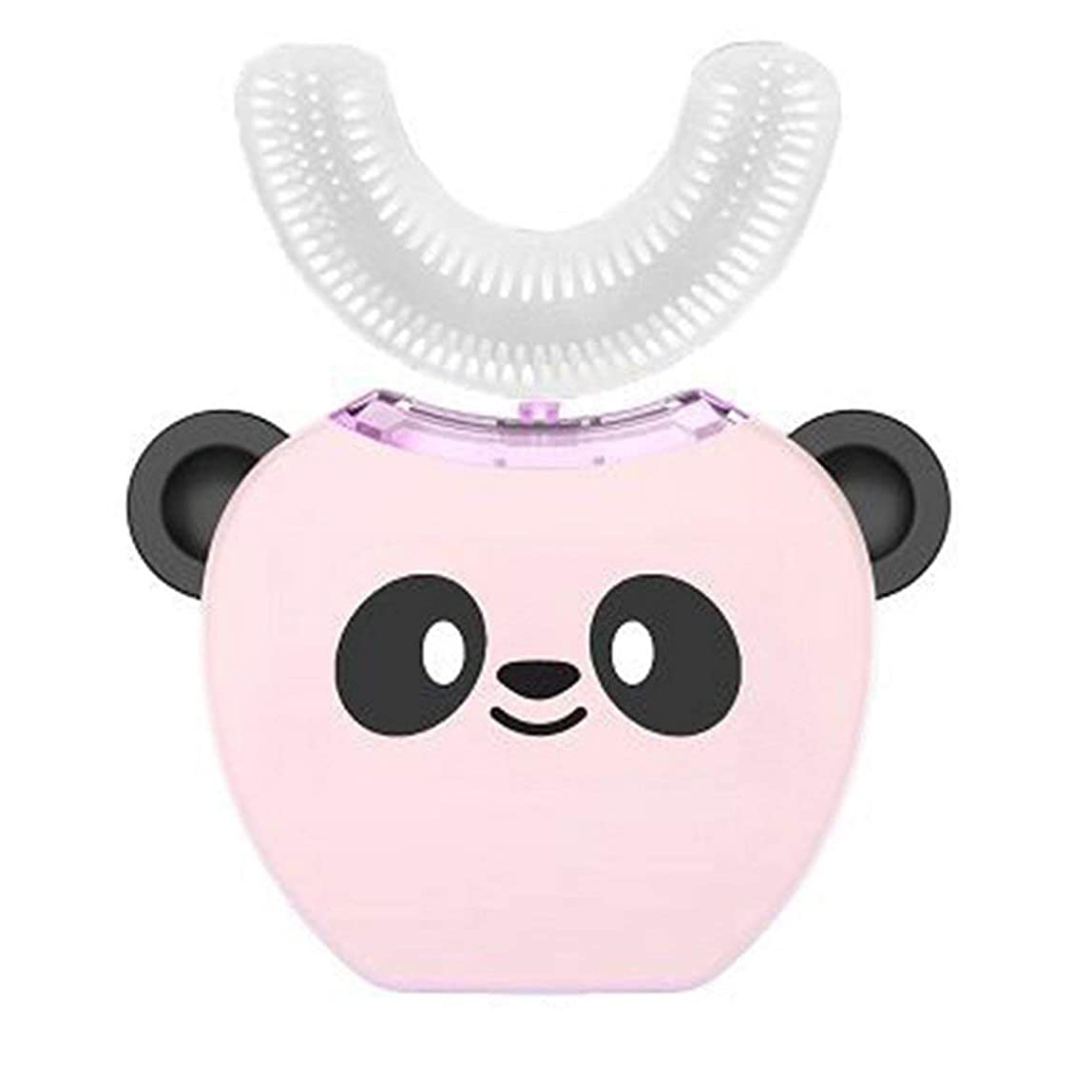 マイルストーン開梱栄光TinygrassAmy Smart Children's Toothbrush Ntelligent Automatic Mouth Mounted U-shaped Electric Toothbrush Rechargeable Baby Toothbrush(カラー:ピンク)