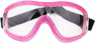 DPLUS Safety Goggles with Universal fit, Safety Glasses with Clear, Fog-Free, Anti Scratch and UV Protection Coated Lenses, Spectacles for Eye Protection (Pink)