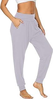 UEU Women's Cozy Yoga Joggers Pants Loose Workout Sweatpants Comfy Lounge Pants with Pockets