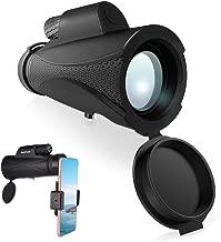 BonFook Optics Titan 10x42 HD Portable Monocular Telescope High Powered,Optimal Brightness and Clarity,One Hand Focus,Waterproof Fogproof for Bird Watching, Nature Watching, Hunting