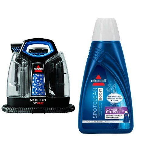 BISSELL SpotClean ProHeat Portable Spot Cleaner, 5207F and BISSELL OXYgen BOOST Portable Machine Formula, 32 ounces, 0801 Bundle