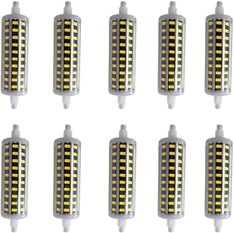 Aoxdi 10X Dimmbar R7s LED 10 Watt 118mm, Warmwei, SMD 5730 LED Leuchtmittel Lampe Halogen j118 Fluter Brenner Scheinwerfer Flutlicht, AC85-265V