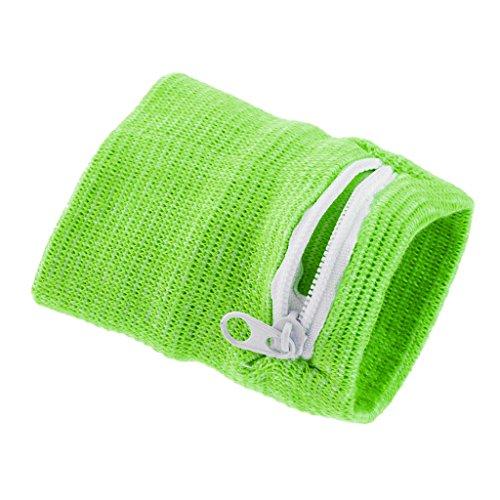 SM SunniMix Armbandtasche Armband mit Reißverschluss Geldbörse Handgelenktasche Sporttasche Geldbeutel für Erwachsene Kinder - Grün