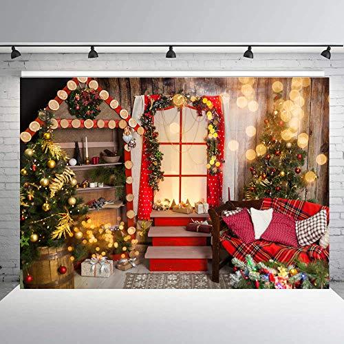 Foto Fondos Interior Navidad Fondo para la Familia Fiesta Fotografía Decoración del Hogar Navidad Foto Fondo-8x6ft