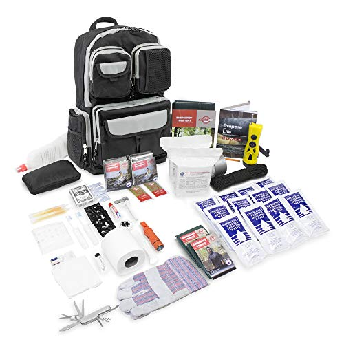 Deluxe 2 Person Urban Survival Kit - Black | 3 Day Bug-Out Bag/Go Bag