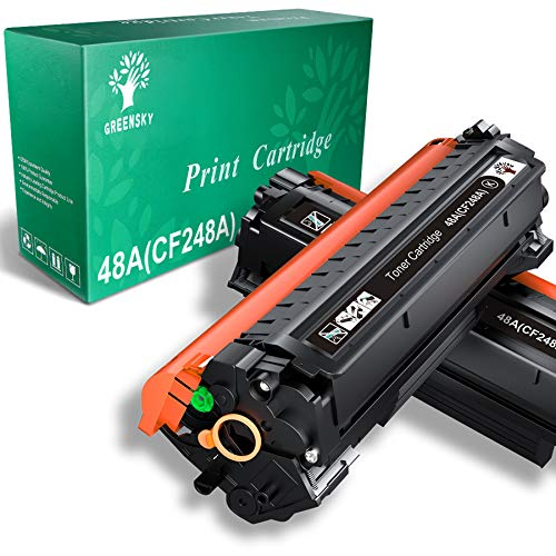 GREENSKY Compatible Toner Cartridge Replacement for HP 48A CF248A for HP Laserjet Pro M15w MFP M29w M15a M16a M16w MFP M29a MFP M28w MFP M28a M30w M31w Printer (Black, 2 Pack)