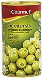 Gourmet - Aceitunas rellenas de anchoa - Verdes manzanilla extra - 150 g - [Pack de 8]