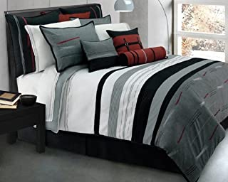 Zumi Charcoal Standard Pillow Sham by Lawrence Home Fashions