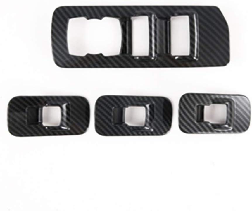 Genericss for F-150 F150 2017 2017 2018 2019 2020 Car Accessories Interior Door Window Switch Control Panel Frame Trim 4PCS ABS Chrome