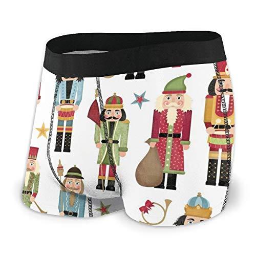 MRRUI Mens Ultra zacht ondergoed Boxer korte gedekte tailleband notenkraker kerstboom ster