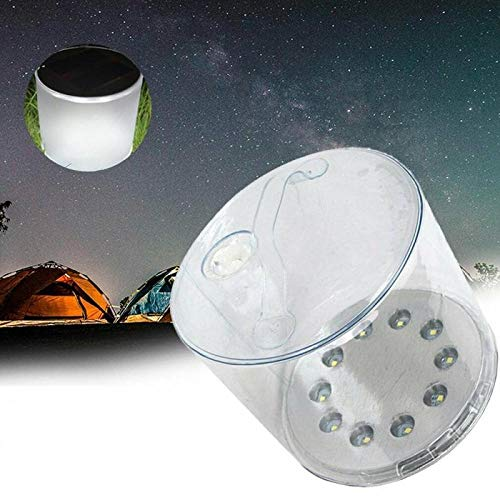 AdoDecor Outdoor 10LED Camping Solar Powered Foldable Inflatable Portable Light Lamp for Garden Yard Solar Light Solar Light Outdoors