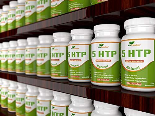 5-HTP da 100 mg Extra Forti Adatte ai Vegetariani, Fornitura Per 4 Mesi, Senza OGM, 120 Capsule Naturali, Coadiuvatrici del Sonno e Regolatrici di Melatonina di Vita Premium