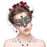SKY TEARS Maschera Carnevale Maschere Veneziane in Stile Veneziano in Metallo, Princess-Maschera di Halloween per Donna