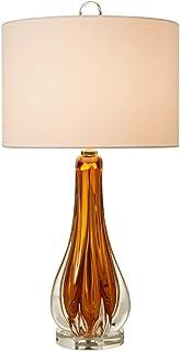 Lampe Deco Table en Verre Lampe de Chevet Lampe de Chevet Lampes Nuit Table Lumineuse Lampe Chambre Salon Bureau Collège D...
