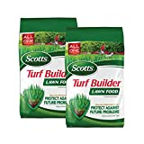 Scotts Turf Builder Lawn Food, 12.5 lb. - Lawn Fertilizer Feeds and Strengthens Grass to Protect Against Future Problems - Build Deep Roots - Apply to Any Grass Type - Covers 5,000 sq. ft., 2-Pack
