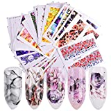 48 Sheets Pretty Nails Wraps Flower Water Transfers Nail Art Stickers Foil Manicure Decal Decoration DIY Nail Tools SASTZ352-391