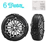 4YANG Snow Chains Snow Socks, 6Pcs Anti-Skid Snow Chains for Tires Width 165-285mm