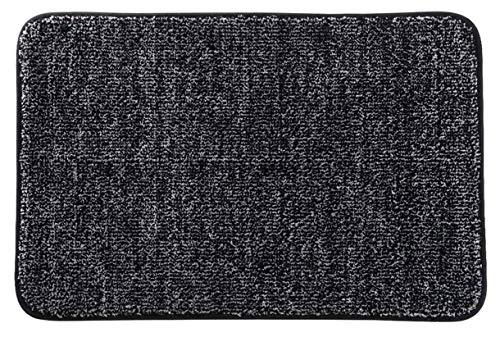 Lifewit Indoor Fußmatte Mikrofaser Super Absorbent Water Low Profile Mats Maschinenwaschbar Rutschfester Gummi-Einstiegsteppich für die Innentür der Matten, Schwarz, 90 x 60 cm