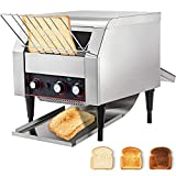 VEVOR 2200W Commercial Conveyor Toaster,300PCS/Hour 110V Heavy Duty Stainless Steel Toaster for Restaurant Breakfast, Sliver