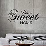 57 * 28cm Home Sweet Home Wall stickers cita vinilo removible etiqueta de la pared Home Decor living - dormitorio Art Decals Wallpaper