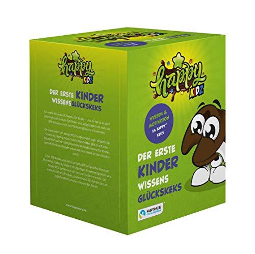 Glückskekse Happy Kidz Schoko Glückskeks! Der erste Wissens und Motivations Keks für Kinder von Kindern mitentwickelt. (1 Box = 10 Kekse a 6g)