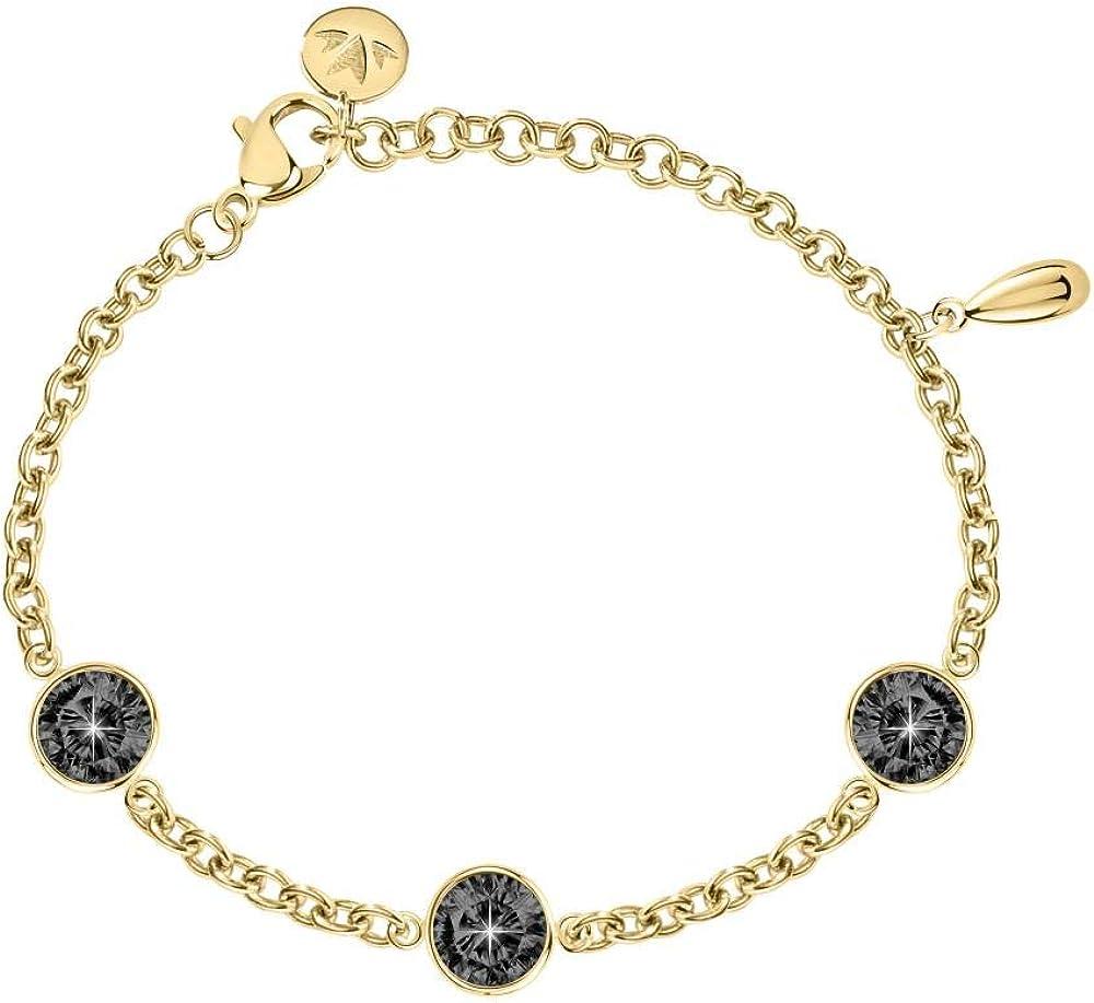 Morellato ,bracciale da donna, collezione gipsy, in acciaio, cristalli SAQG11