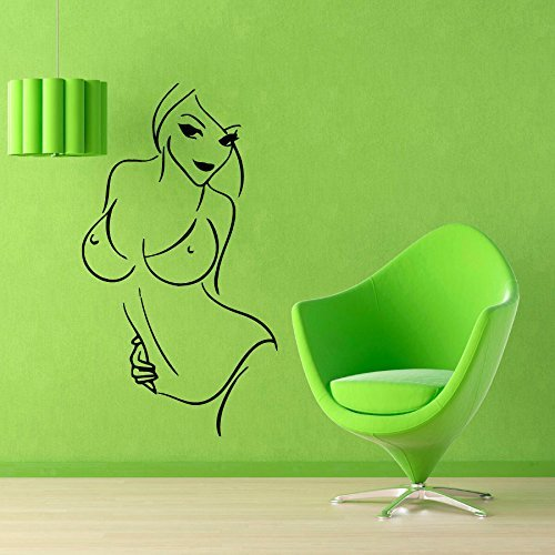Muursticker Meisje Model In Bikini Beauty Salon Muurdecoratie Spa Salon interieur Vinyl Sticker Home Decor Vinyl Art Badkamer Muurdecoratie