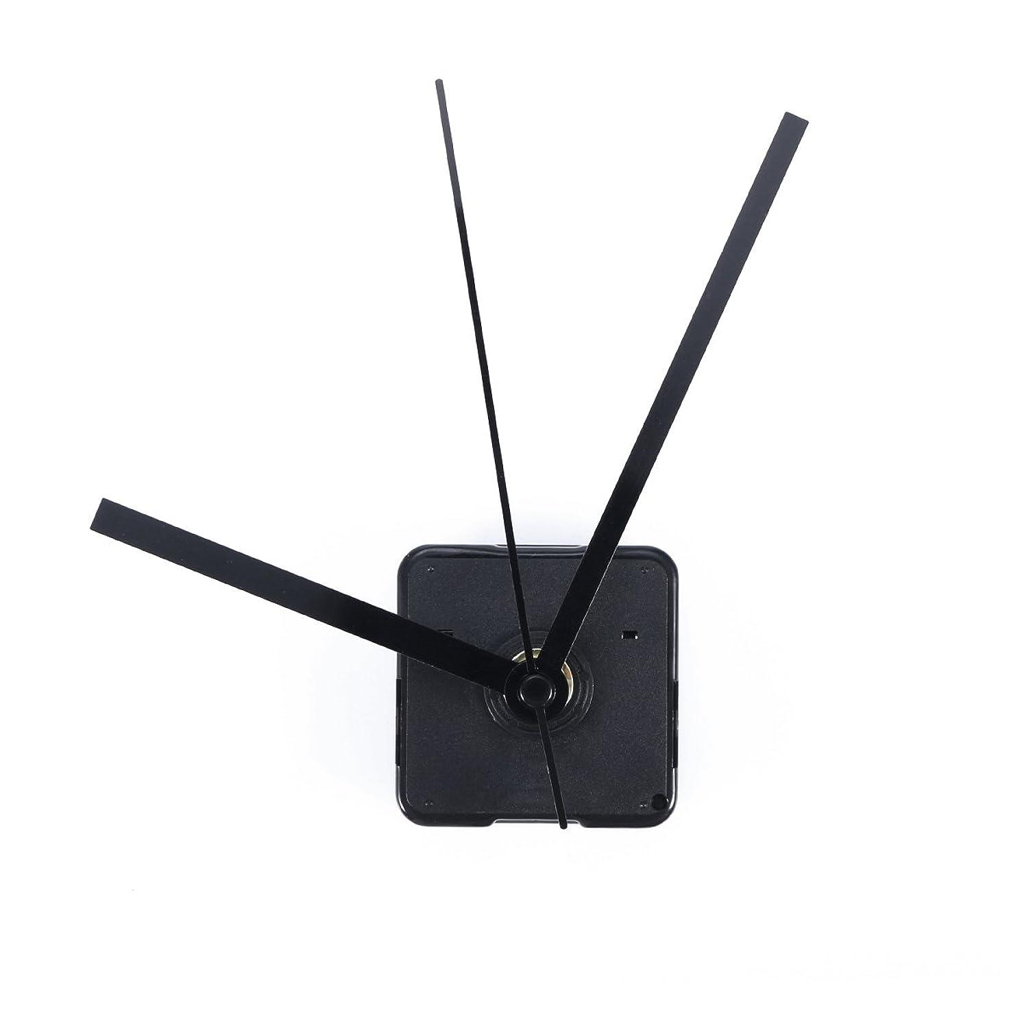 VORCOOL Silent Clock Movement Non-ticking Movement Motor Mechanism (Black Straight Clock Spindle)