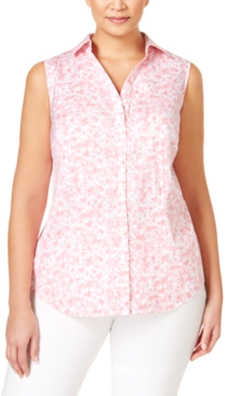 Charter Club Plus Size Printed Sleeveless Shirt