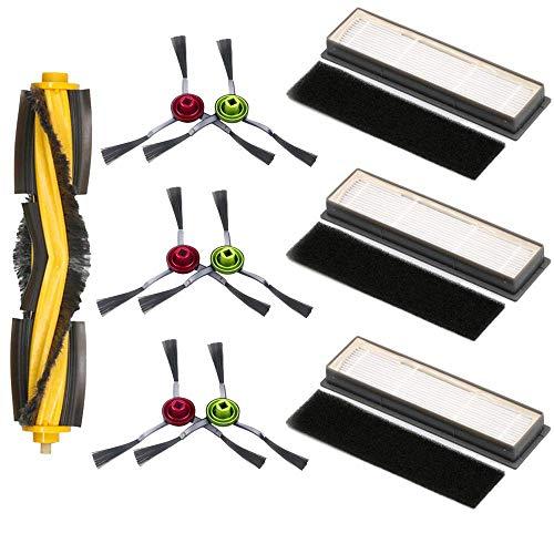 Facibom Roller Seitenbürste Schwamm-Filter-Set für Deebot OZMO 950 920 Staubsaugerteile, 1 x Rollenbürste, 3 x Filter, 3…