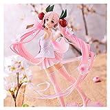 Figura de Hatsune Miku Anime Pink Sakura Ghost Miku Figuras de acción de PVC Juguetes para niñas Colección de regalos para niñas Vestido de boda Primavera