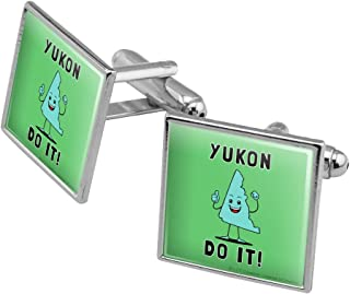 Yukon Do It You Can Canada Funny Humor Square Cufflink Set - Silver or Gold