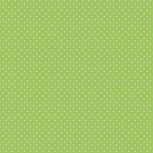 babrause® Baumwollstoff Pünktchen Grün Webware Meterware Popeline OEKOTEX 150cm breit - Ab 0,5 Meter