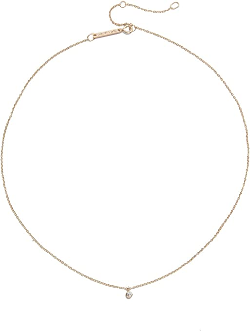 Zoe Chicco Women's 14k Gold One Diamond Chain Choker Necklace