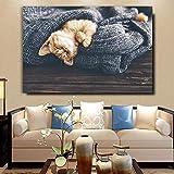 UHvEZ Lindo Animal Mascota Gato_Puzzle de Madera para Adultos 1000 Piezas_Rompecabezas de Madera Personalizados, imágenes Completas, Juguetes de Bricolaje para decoración de Adultos_50x75cm