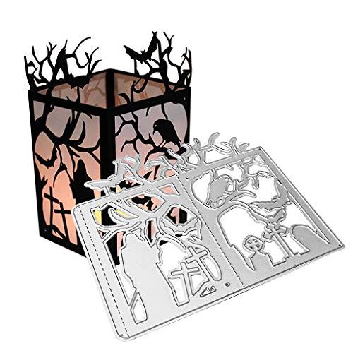WuLi77 Halloween Baum Metall Stanzschablone Die Stanzen Zum Basteln Von Karten, Prägeschablone Für Scrapbooking, DIY Album, Papier, Karten, Kunst, Dekoration