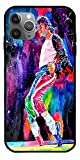 NATTEE Phone Case Compatible with iPhone 12 11 X Xs Xr 8 7 6 6s Plus Mini Pro Max King of Pop Moonwalker Dancer Michael Jackson Shirt Poster Cd Singer Pure Clear Cases Cover Full Body