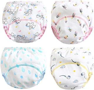 Morbuy-Shop, Pantalones de Entrenamiento para Bebé, Morbuy Reusable Calzones de Entrenamiento Ropa Interior de Entrenamiento Bragas de Aprendizaje para Niño Niña,4 Piezas