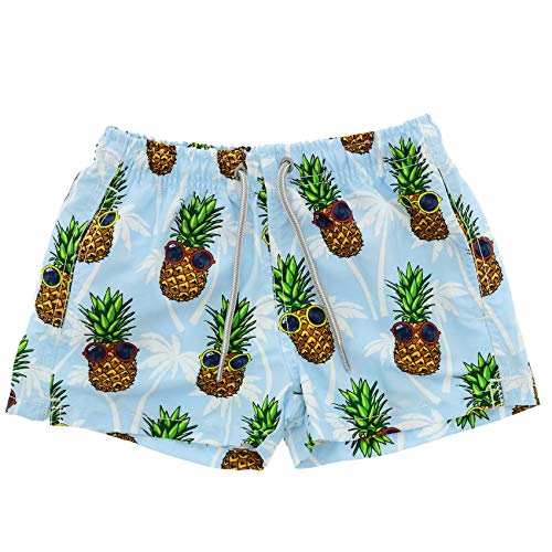 Scotch Painter's Tape Mc2 Saint Barth Boys Jeansummerpineapple31 Light Blue Polyester Trunks