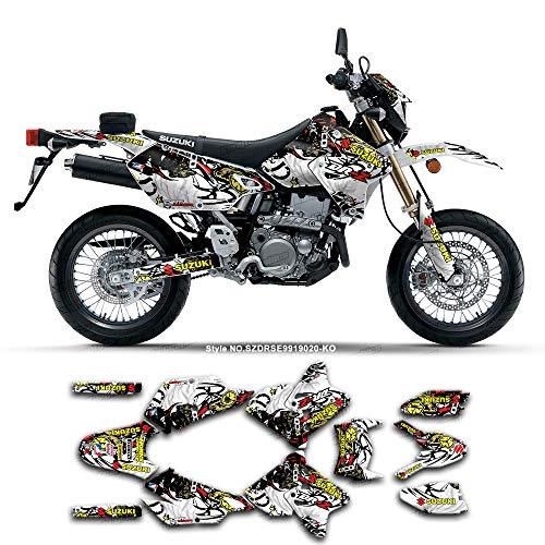 Kungfu Graphics Custom Decal Kit for Suzuki DRZ 400 SM Supermoto 1999 2000 2001 2002 2003 2004 2005 2006 2007 2008 2009 2010 2011 2012 2013 2014 2015 2016 2017 2018 2019, SZDRSE9919020-KO