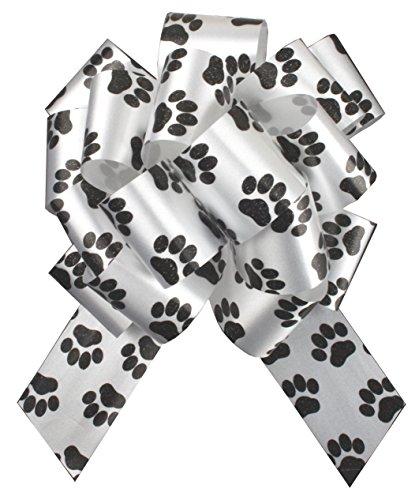 30 x pootafdruk geschenkbogen - 32 mm - hond kat puppy cadeau mand mand trekbogen