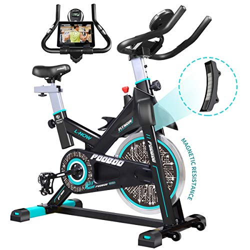 pooboo Magnetic Exercise Bike Belt Drive Indoor Cycling Bike, Stationary Bike with...