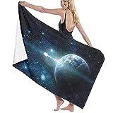 Large Soft Microfiber Bath Towel Blanket,Pirate Ship Night Sky Ocean Print,Bath Sheet Beach Towel for Family Hotel Travel Swimming Sports,52' x 32' Towl05