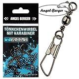 Angel-Berger Tönnchenwirbel mit Karabiner 10 Stück Wirbel (12)