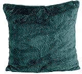 Nielsen Kissenbezug Octavian, 50x50 cm, Deep Teal (grün), extra flauschig und weich, Kuschelkissen,...