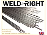 Weld Right - ER316L Stainless Steel <span class='highlight'>Tig</span> Filler <span class='highlight'>Welding</span> <span class='highlight'>Rods</span> - 3.2mm x 10-100 Qty