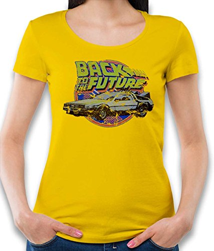 Back to The Future Damen T-Shirt gelb S